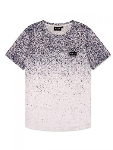 NICCE MENS SPECKLE T-SHIRT WHITE
