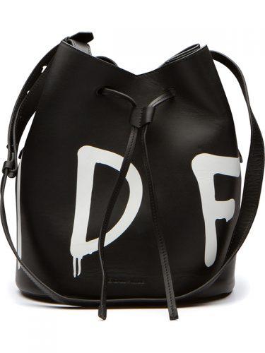 Kendall + Kylie Ladie Slang Bucket Bag Black