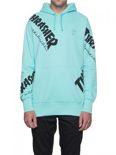 HUF Thrasher TDS All Over Hoodie Mint