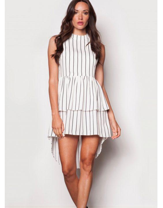 Pink Martini Tier 1 Dress White
