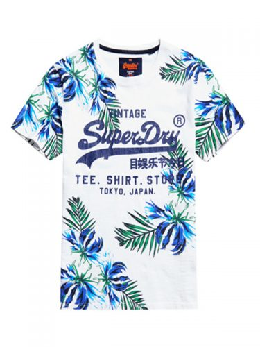 Super Dry Surf Store Tee Optic