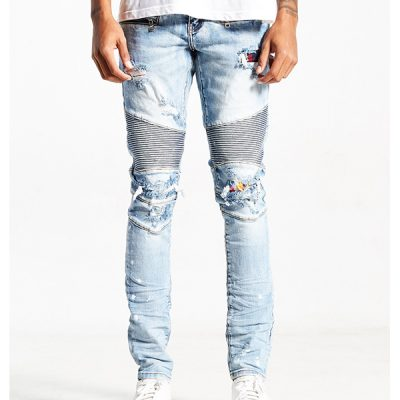 Embellish NYC – Slash Biker – Bleach Blue