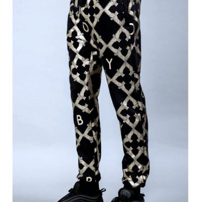 Boy London – Echo Range Joggers – Black/Gold