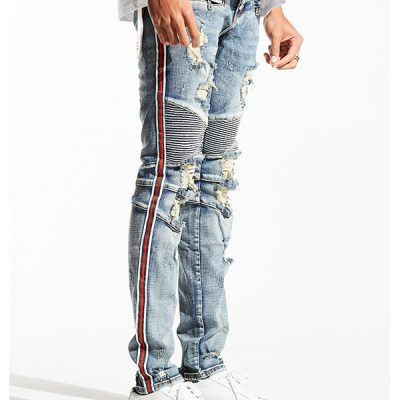 Embellish NYC – Daniel Biker Denim – Vintage Wash
