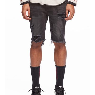 Kuwalla Tee – Kamikaze Denim Shorts – Black