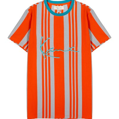 KARL KANI – YD Vertical Stripe S/S Tee – Orange