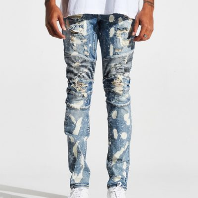 Embellish NYC – Gumble Biker Denim – Blue Stone