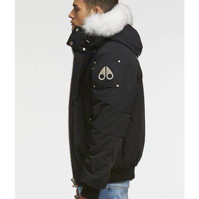 Moose Knuckles – Ballistic Bomber – Black w/ White Fur