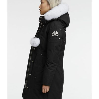 Moose Knuckles – Stirling Parka – Black w/ White Fur