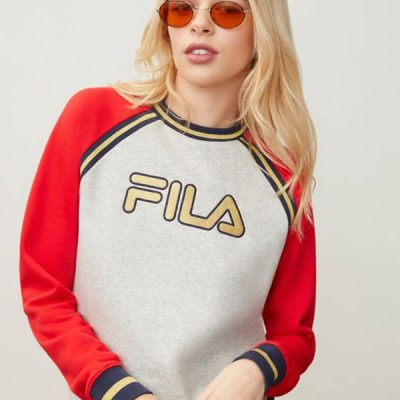 fila – rafaella top – grey/red