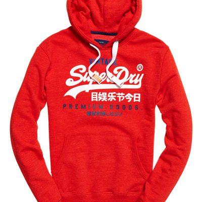 super dry – premium goods tri hood – red
