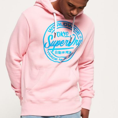 super dry – world wide hoody – pink
