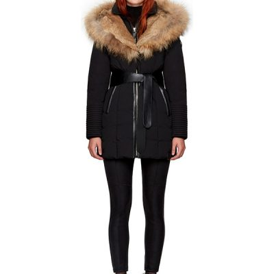 Rudsak – Moda Down-Filled Parka – Black/ Natural Fur