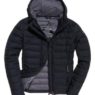 Super Dry – Hooded Double Zip – Grey