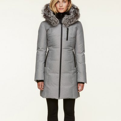 Soia & Kyo – Christy-FX Down-filled Parka – Silver/Silver Fox Fur