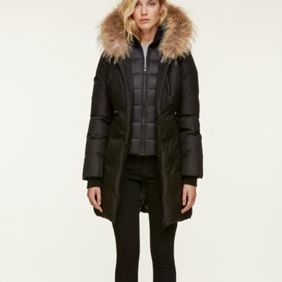 Soia & Kyo – Christy-R Down-filled Parka – Black/Natural Fur