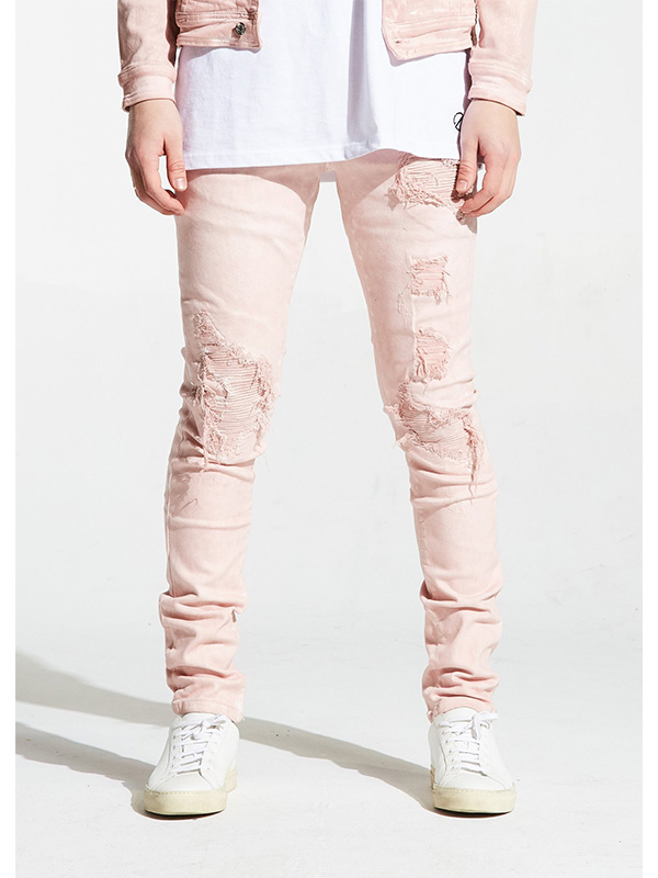 26f5937c Home Men's Bottoms Embellish NYC – Parker Rip and Repair Denim – Pink. Zoom  images