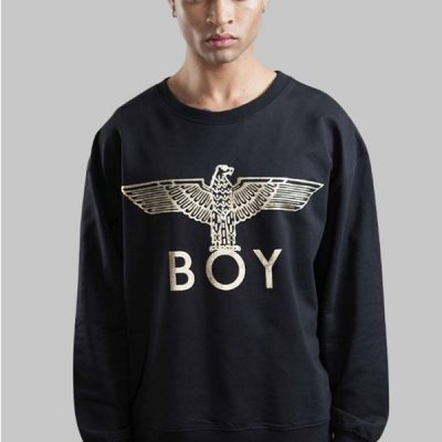 BOY London – BOY Eagle Crewneck – Black/Gold