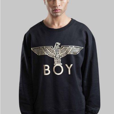 BOY London – BOY Eagle Crewneck – Black/Gold