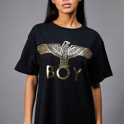 BOY London – BOY Eagle Tee – Black/Gold (Unisex)