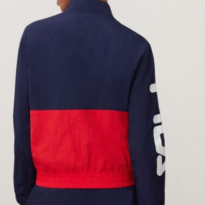 Fila – Miguela Wind Jacket – Navy/Red