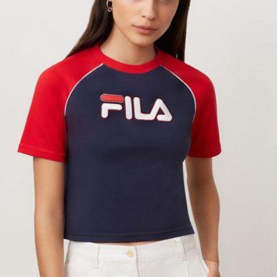 Fila – Salma Tee – Navy/Red
