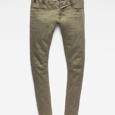 G Star RAW – D-Staq 3D Slim 5 Pocket Denim – Green/Olive