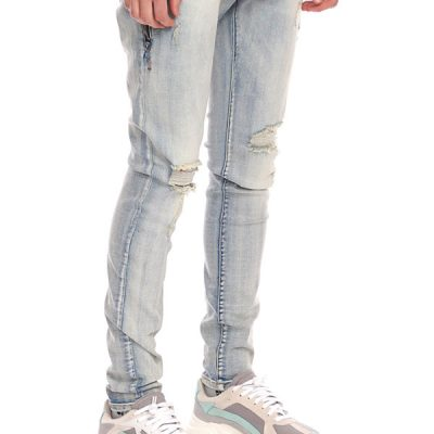 Kuwalla Tee – Destroyed Denim – Blue tint
