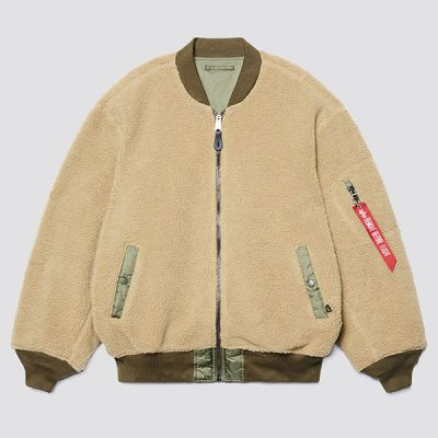 Alpha Industries – L-2B Sherpa Loose Flight Jacket – Cream