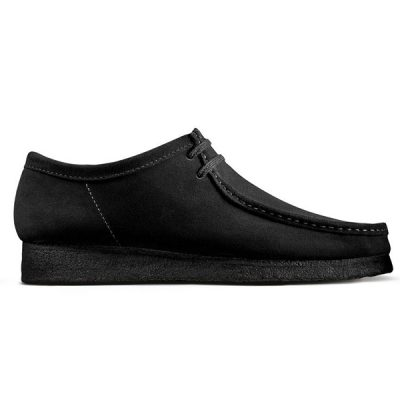 Clarks – Wallabee Lo – Black Suede