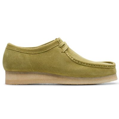 Clarks – Wallabee Lo – Lime Suede