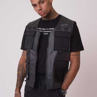 Project x Paris – Transparent Combat Vest – Black