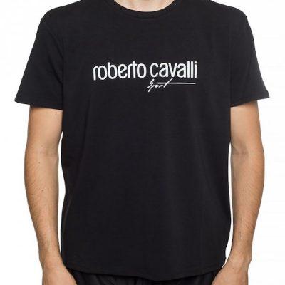 Roberto Cavalli – Cavalli Crew Tee – Black