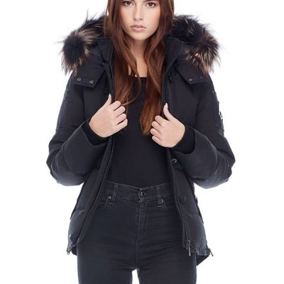 Moose Knuckles – Marysburg Jacket – Black w/ Viking Fox Fur