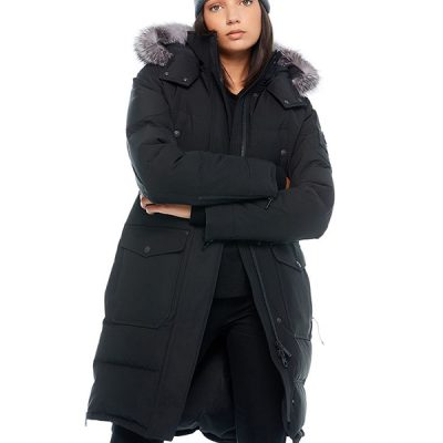 Moose Knuckles – Causapcal Parka – Black w/ Silver Fox Fur