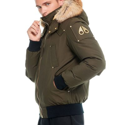Moose Knuckles – Little Rapids – Army w/ Gold Fox Fur