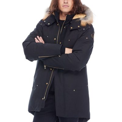 Moose Knuckles – Stag lake Parka – Black w/ Gold Fox fur