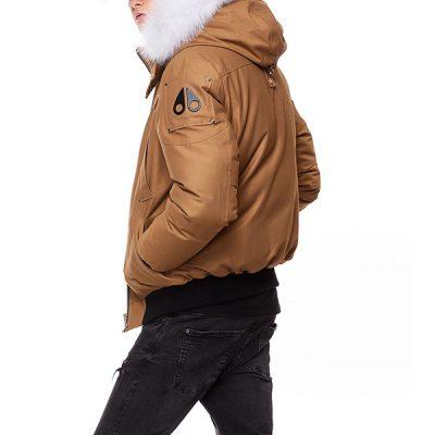 Moose Knuckles – Ballistic Bomber – Waxie w/ Natural Fox Fur