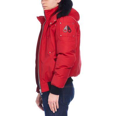 Moose Knuckles – Ballistic Bomber – Red w/ Black Fox Fur