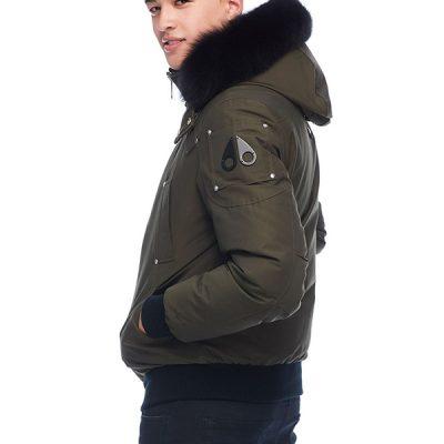 Moose Knuckles – Ballistic Bomber – Army w/ Black Fox Fur