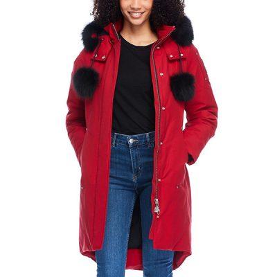 Moose Knuckles – Stirling Parka – Red w/ Black Fox Fur