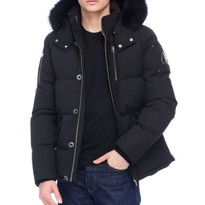 Moose Knuckles – Mens 3q – Black w/ Black Fox Fur