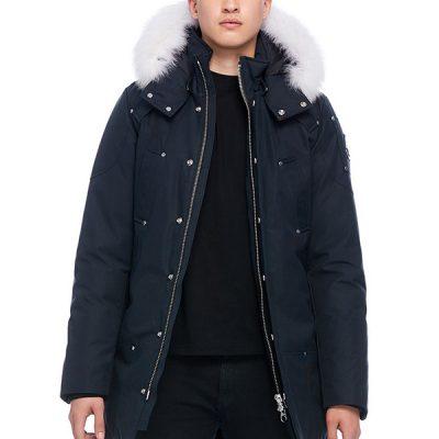 Moose Knuckles – Stirling Parka – Navy w/ Natural Fox Fur