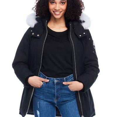 Moose Knuckles – Fire River Jacket – Black w/ Natural Fox Fur