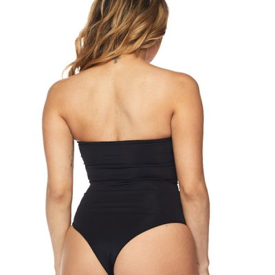 HD – Strapless Nylon Body Suit – Black