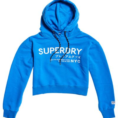 Superdry – Womens Elissa Cropped Hood – New Royal