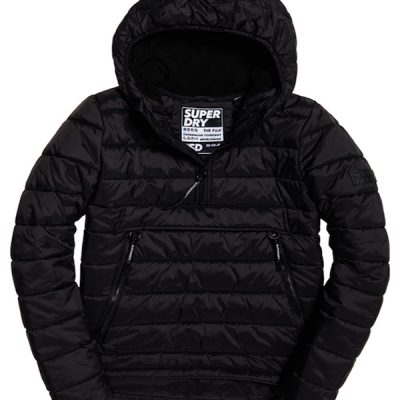 Superdry – Fuji Overhead Puffer Jacket – Black