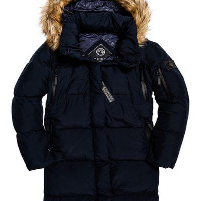 Superdry – Womens Premium Down Louisa Coat – Blue