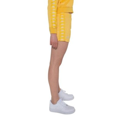 Kappa – Banda Ladytread Sport shorts – Yellow