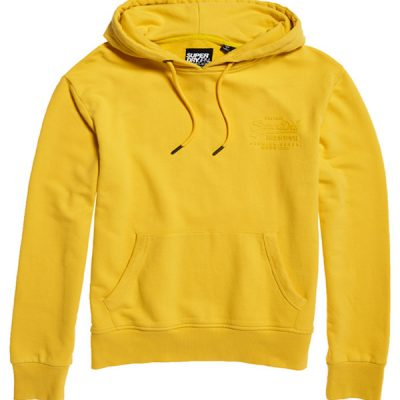 Superdry – Tonal Premium goods Injection Hoodie – Yellow
